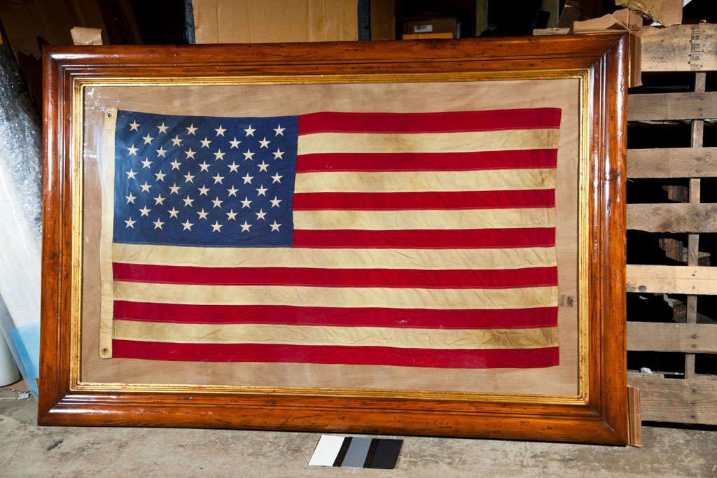 Framed Vintage American Flag at 1stdibs