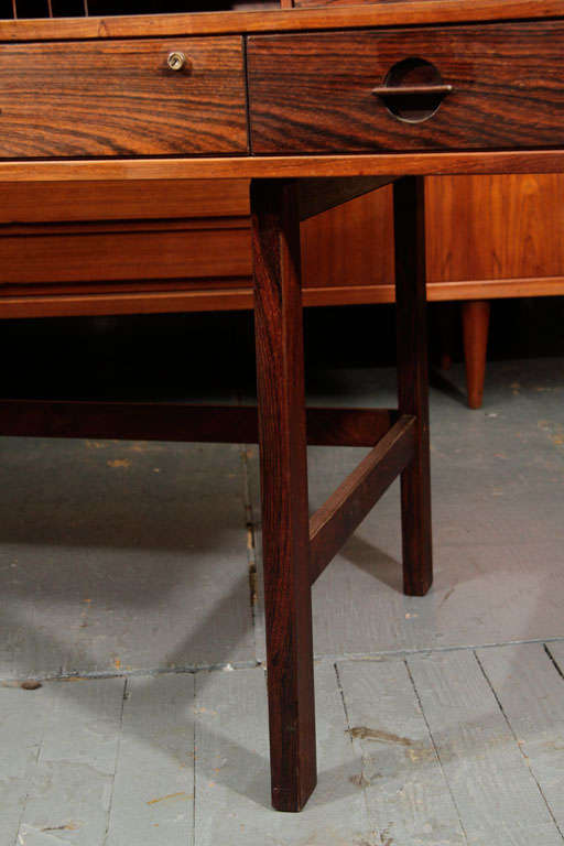 Jens Quistgaard Rosewood Flip Top Desk At 1stdibs