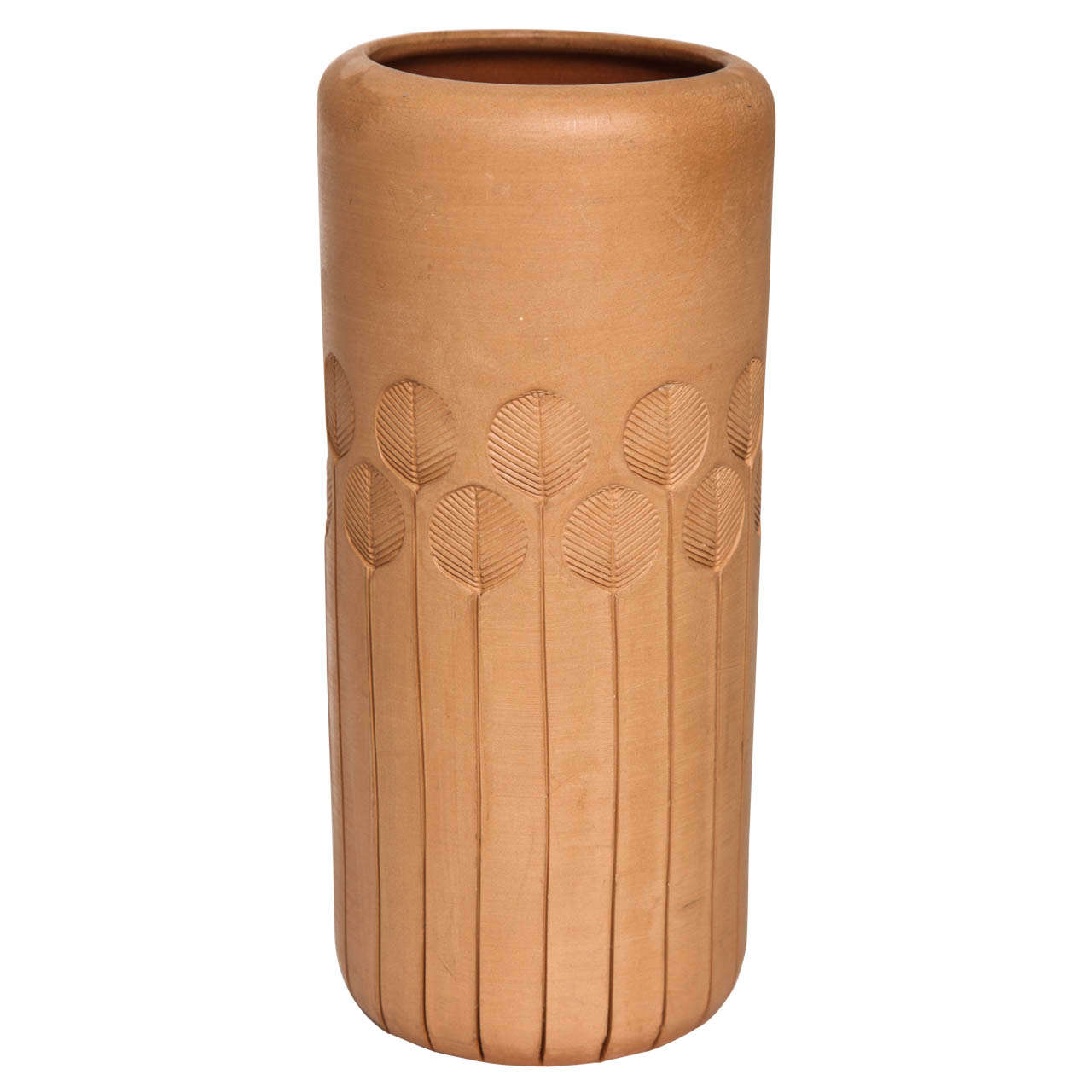 Unglazed Terracotta Vase by Bitossi for Raymor, circa 1960s