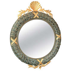 Neoclassical Tole Wreath Style Mirror