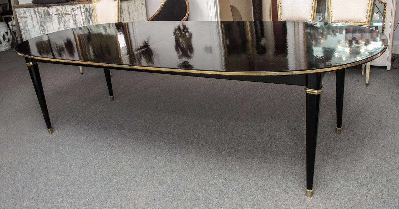 Black Lacquer Dining Table At 1stdibs