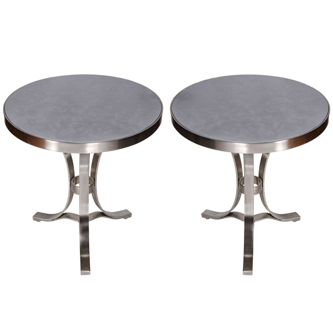 Pair of Side Tables Attributed to Francoise See
