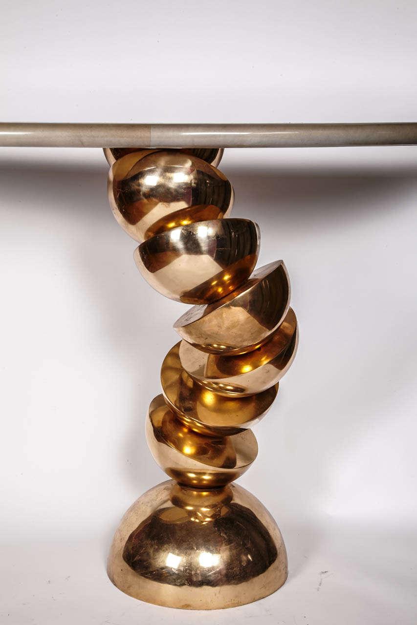 Belgian Console in Solid Bronze by Robert Phandeve