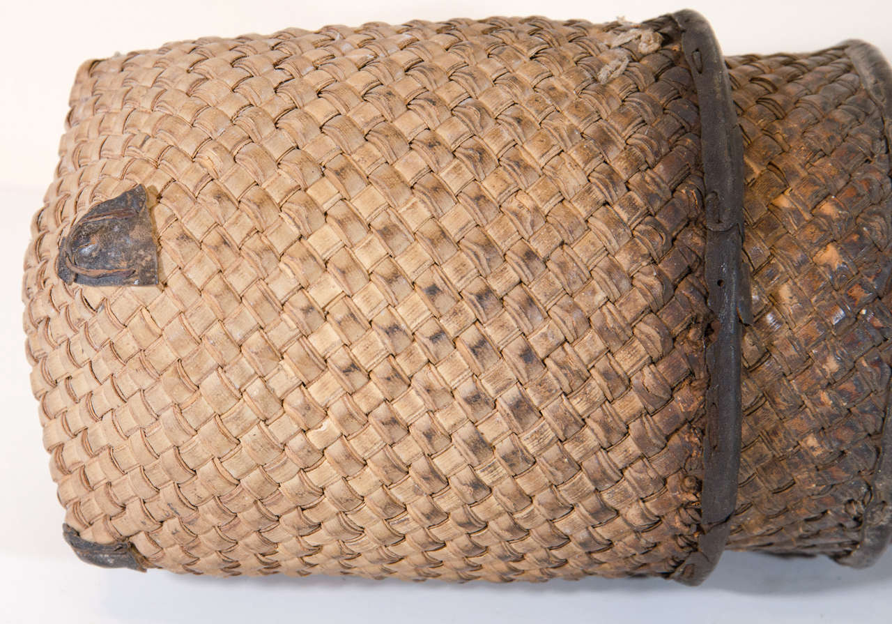 Indonesian Set of Eight Hand Woven Grain Measures For Sale