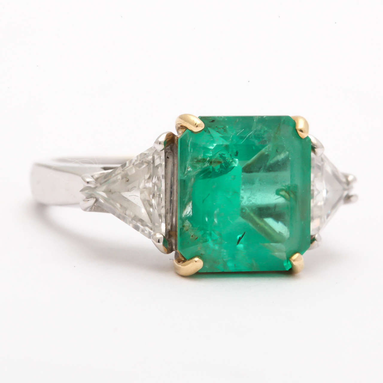 square cut emerald and ring at 1stdibs