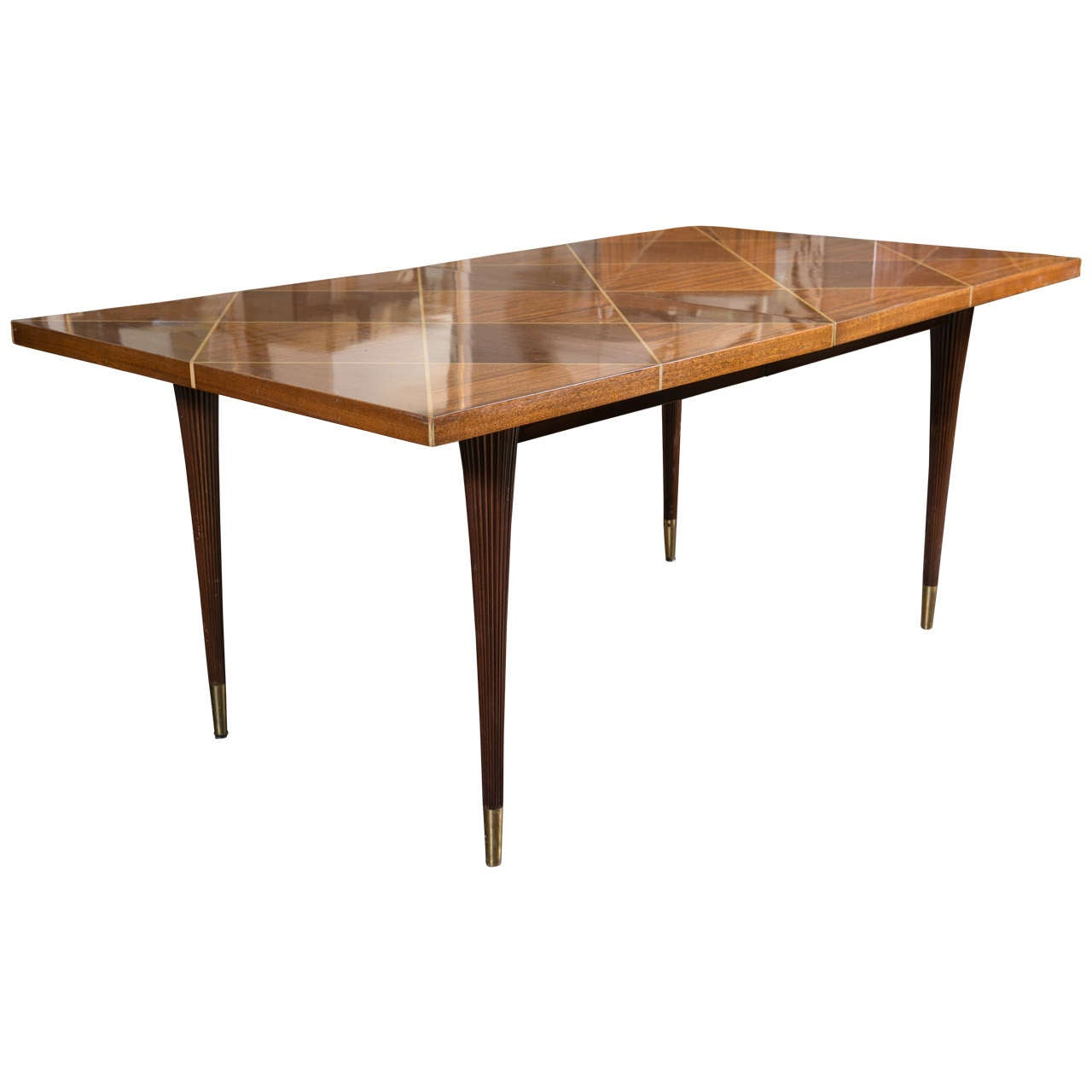 Tommi Parzinger Dining Table With Two Leaves By Charak At