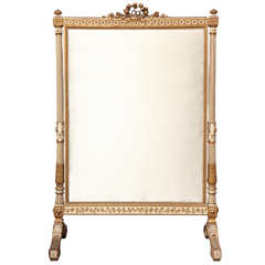 Superbly Carved Louis XVI-Style Fire Screen