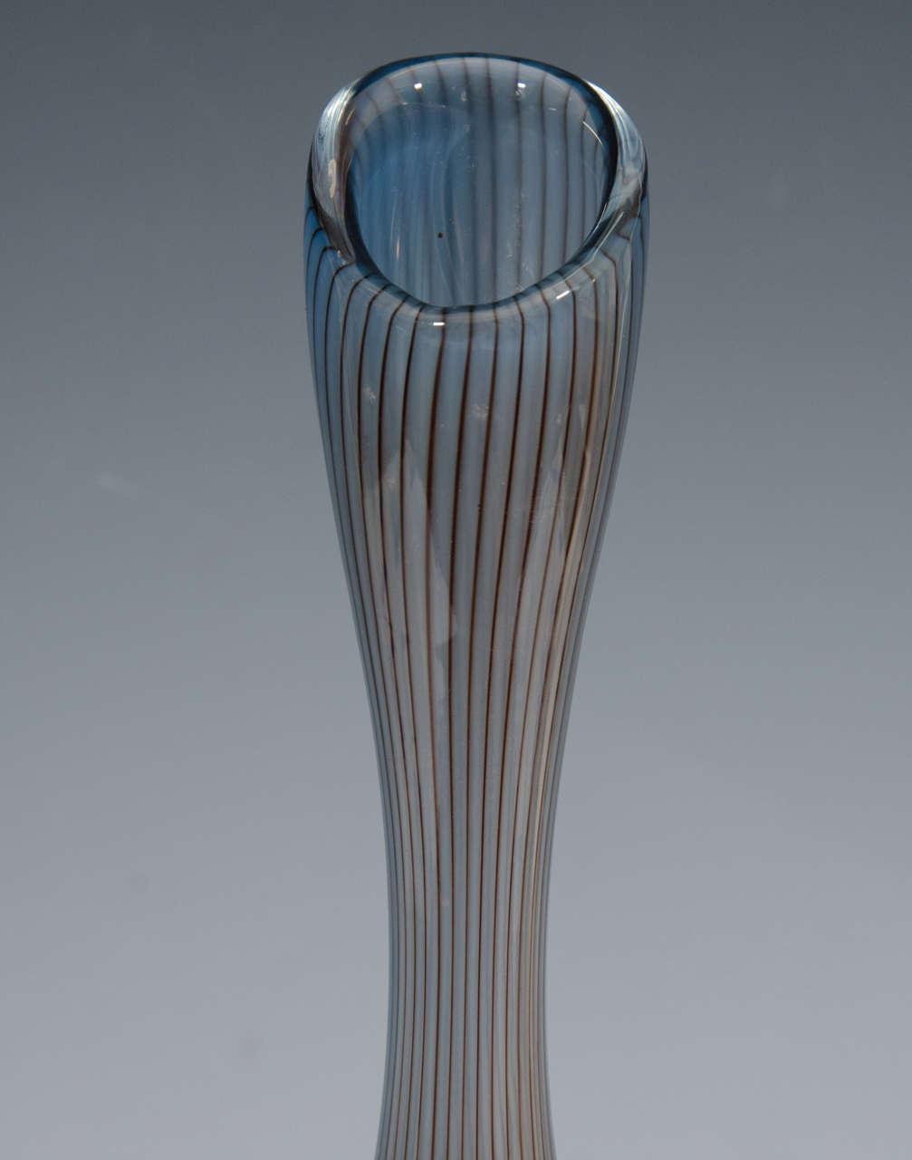 Midcentury Kosta Swedish Colors Art Glass Bud Vase