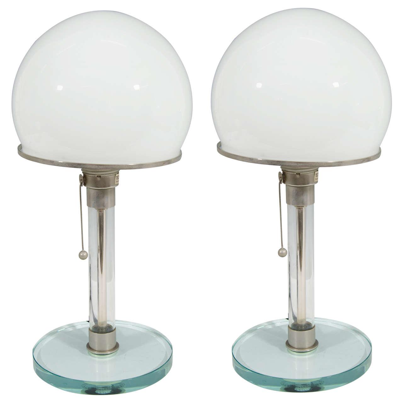 Pair of wilhelm wagenfeld and karl j jucker bauhaus table lamps at pair of wilhelm wagenfeld and karl j jucker bauhaus table lamps for sale aloadofball Gallery