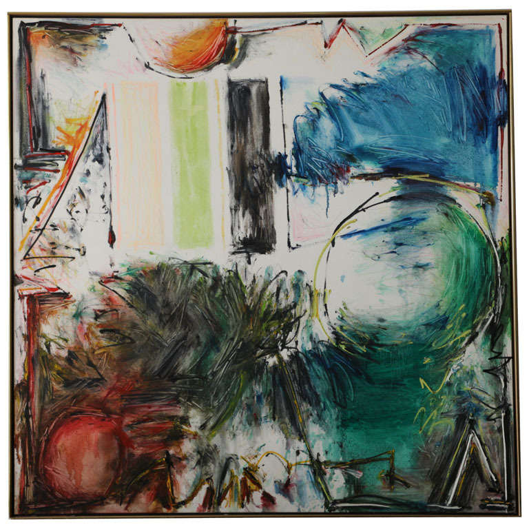 Large Joyce Weinstein Abstract Painting, 1987