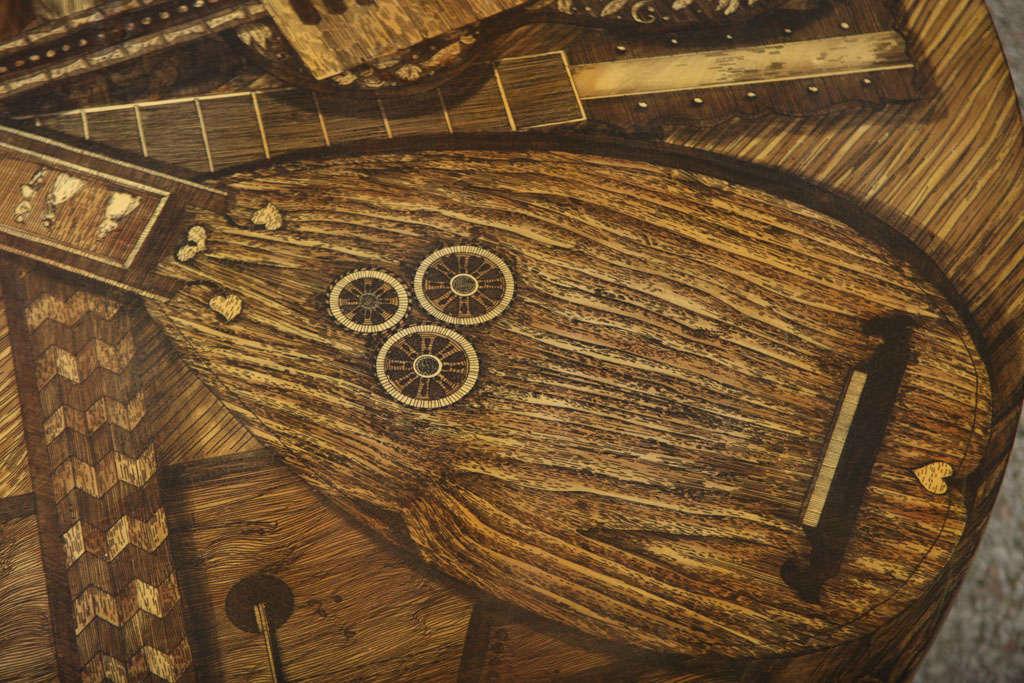 Italian Piero Fornasetti STRUMENTI MUSICALI Coffee Table For Sale