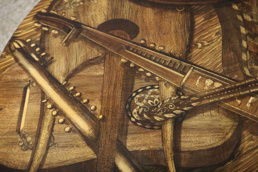 Piero Fornasetti STRUMENTI MUSICALI Coffee Table In Good Condition For Sale In West Palm Beach, FL