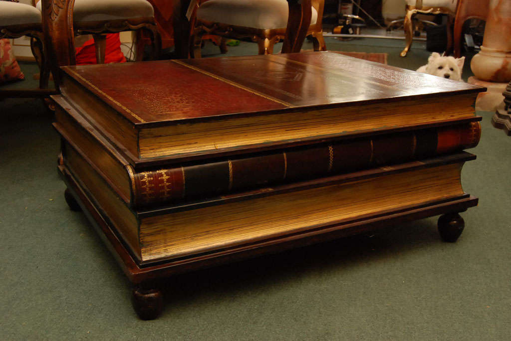 Maitland smith stacked books coffee table with drawers at for How to create a coffee table book