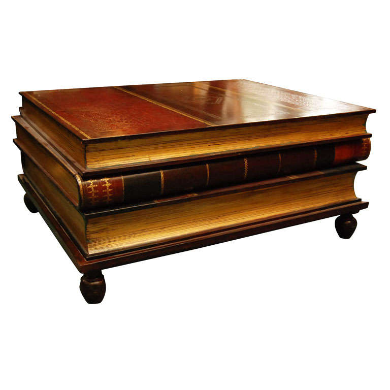 Maitland Smith Stacked Books Coffee Table With Drawers 1