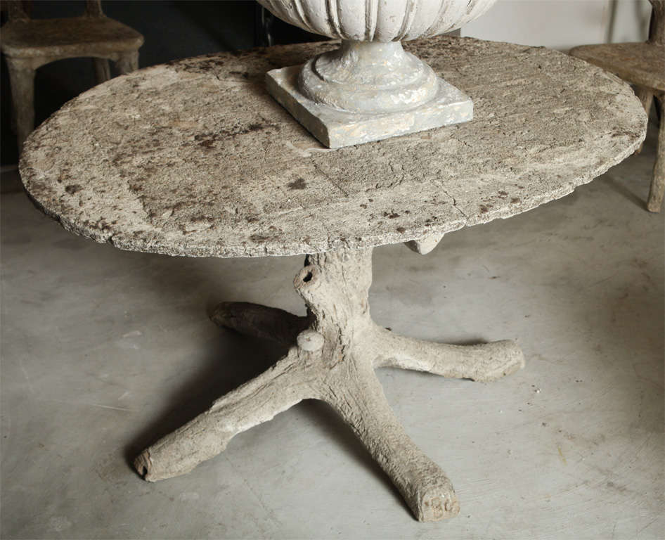 Oval Faux Bois Table At 1stdibs