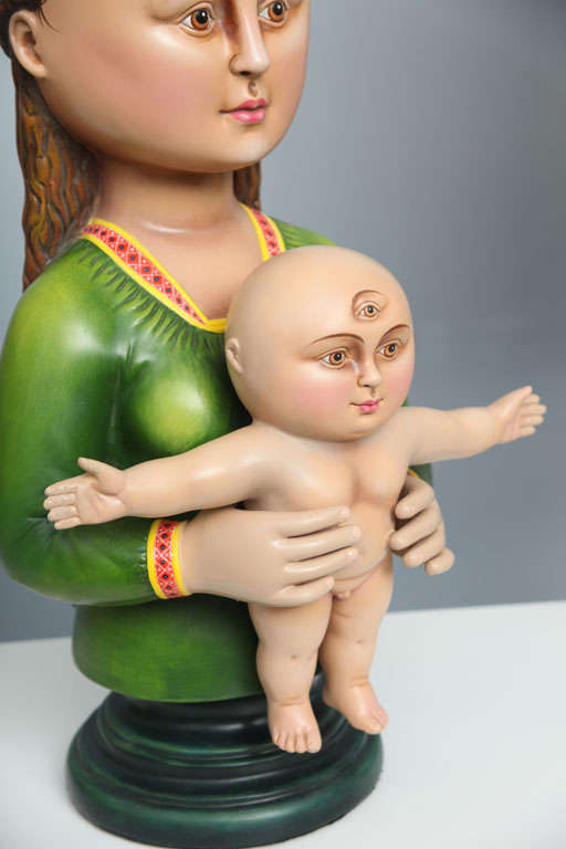 Madonna and Child Sculpture by Sergio Bustamante 'Signed' For Sale 2