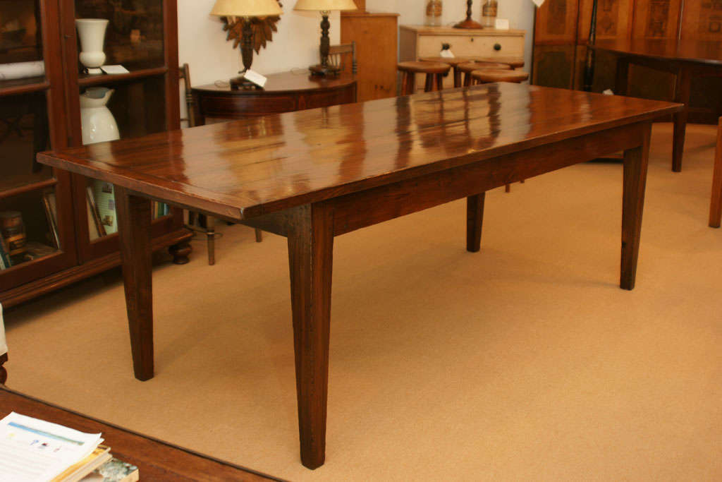 7 foot 11 inch long farmhouse dining table at 1stdibs for 7 foot dining room table