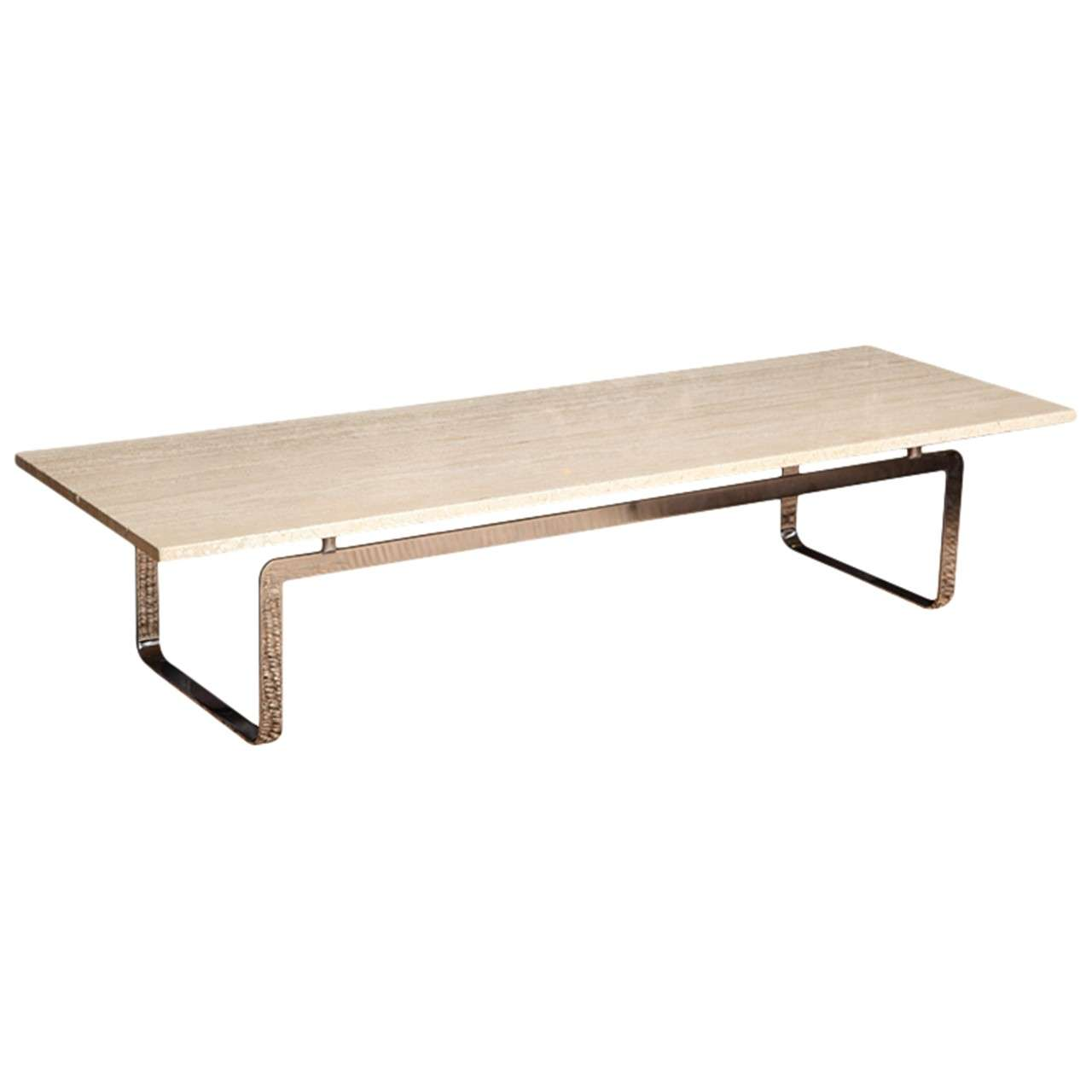 Travertine Coffee Table At 1stdibs