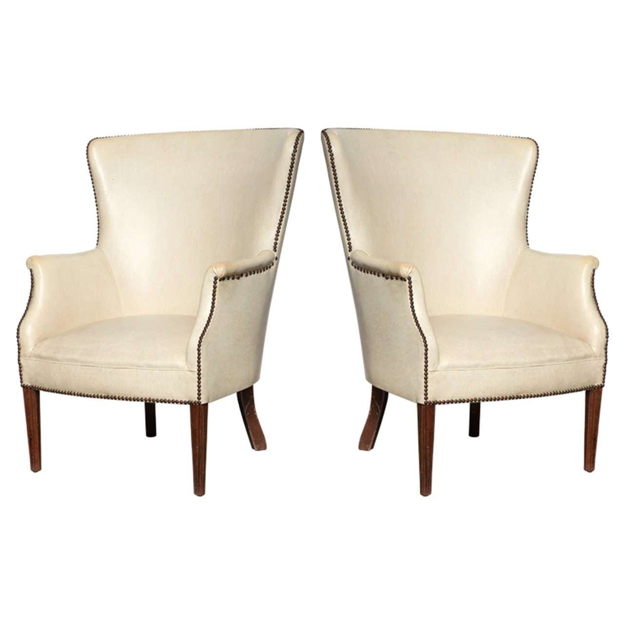 Pair Of Wing Chairs At 1stdibs