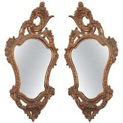 Pair of 18th century Italian mirrors