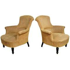 Napoleon 111, Pair of Upholstered Side Chairs