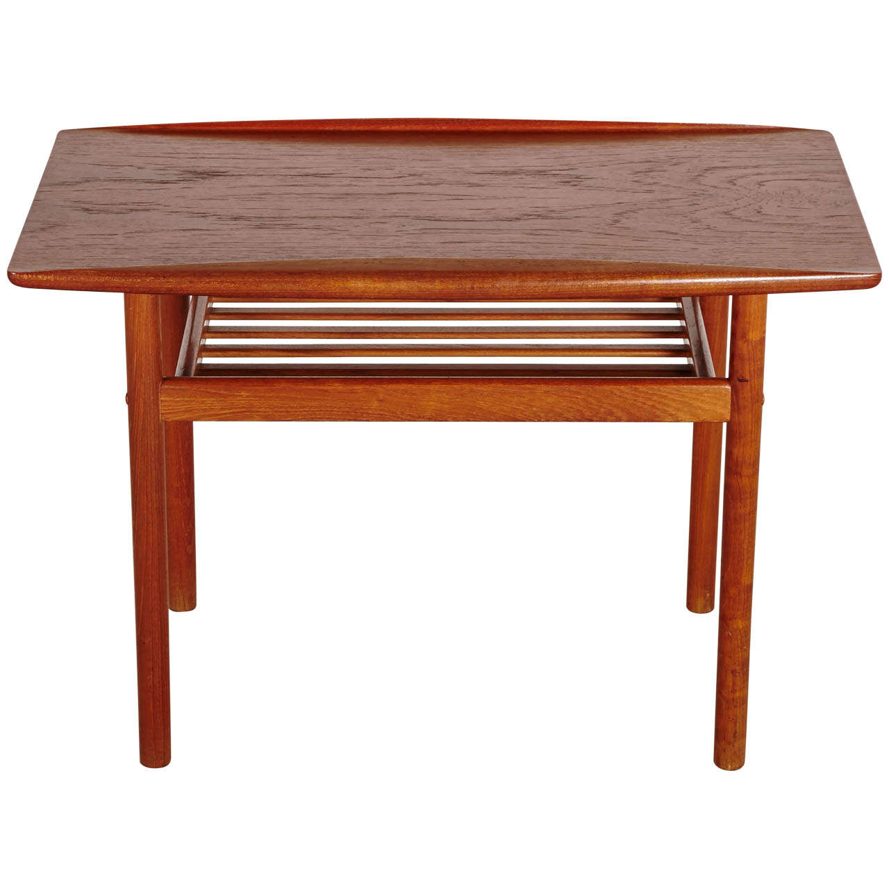 1960 39 s teak wood danish design coffee table by grete jalk for Scandinavian design coffee table