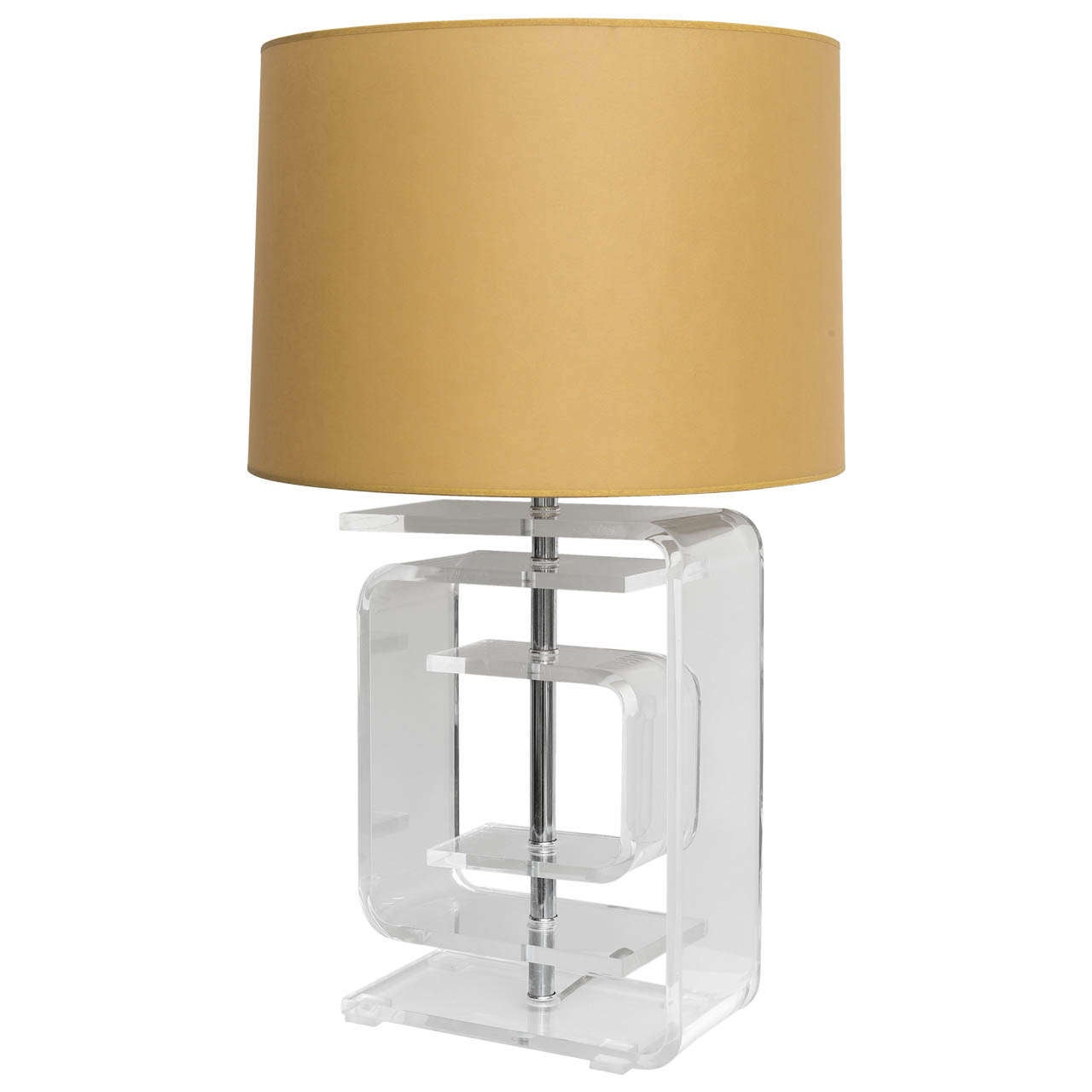 Mid century lucite table lamp at 1stdibs for F k a table lamp