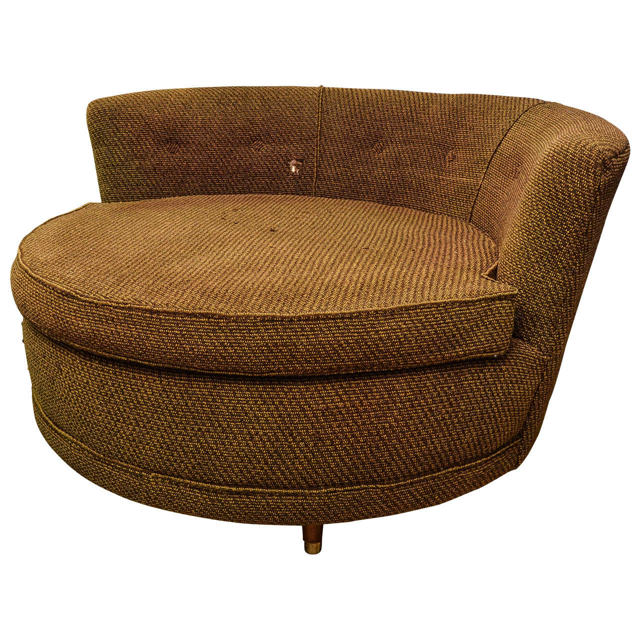 American Circular Oversized Chair For Sale at 1stdibs