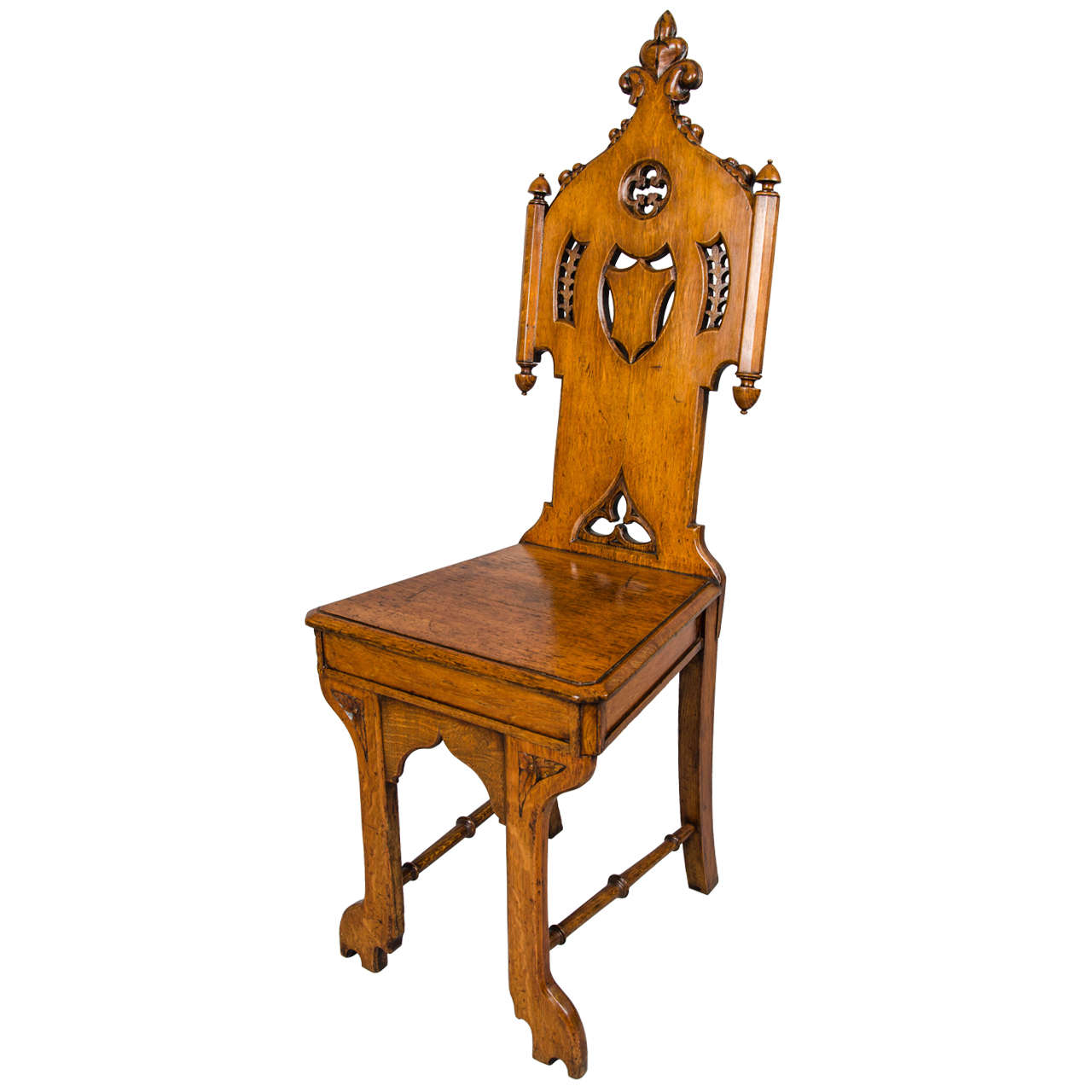 Victorian gothic hall chair at 1stdibs for Victorian gothic chair