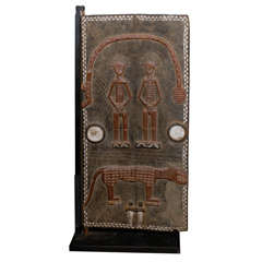 Decorative Ivory Coast Grainery Door with Snake