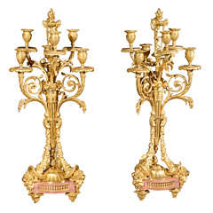 Pair Of Exquisite 19th Century Candelabra