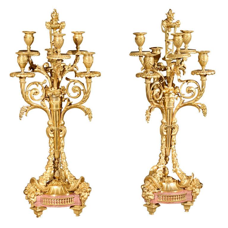 Pair Of Exquisite 19th Century Candelabra