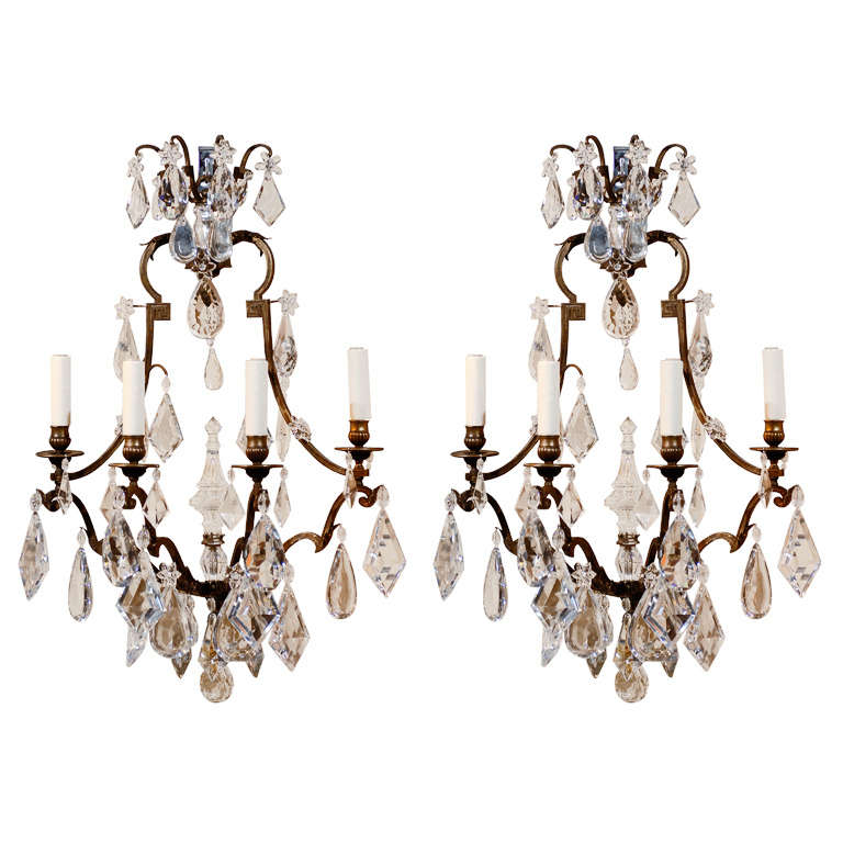 Pair Of Baccarat Sconces At 1stdibs