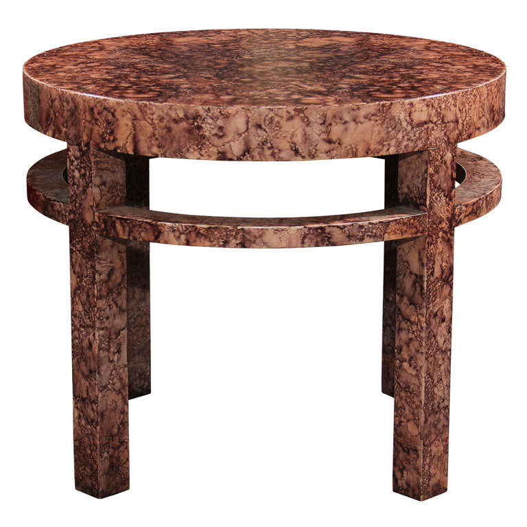 Midcentury Henredon Faux Marble Side Table For Sale At 1stdibs