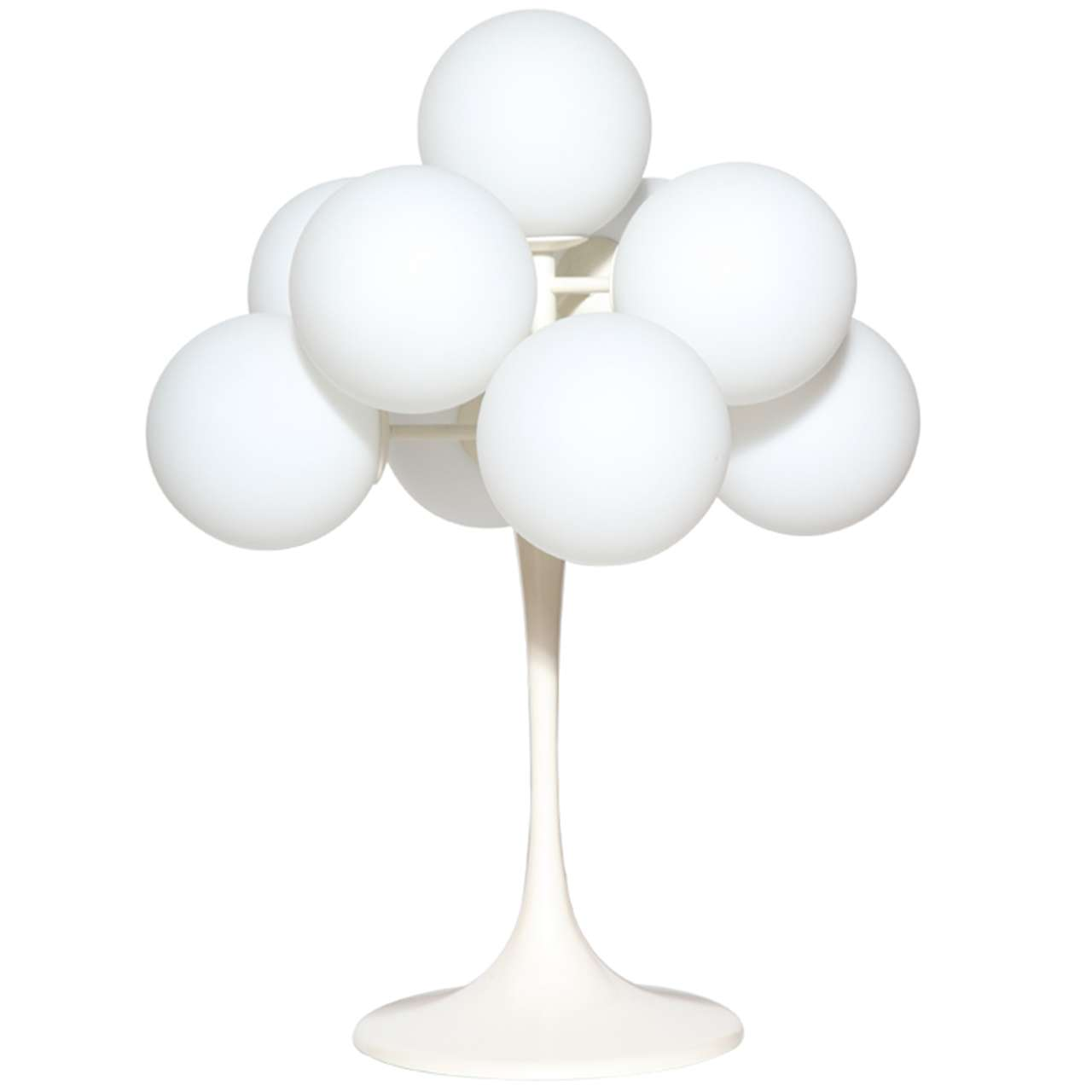 Max Bill Tulip Table Lamp With Nine White Frosted Glass Globes, 1960s For  Sale