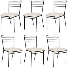 set of 6 Wrought Iron Arbuck Chairs