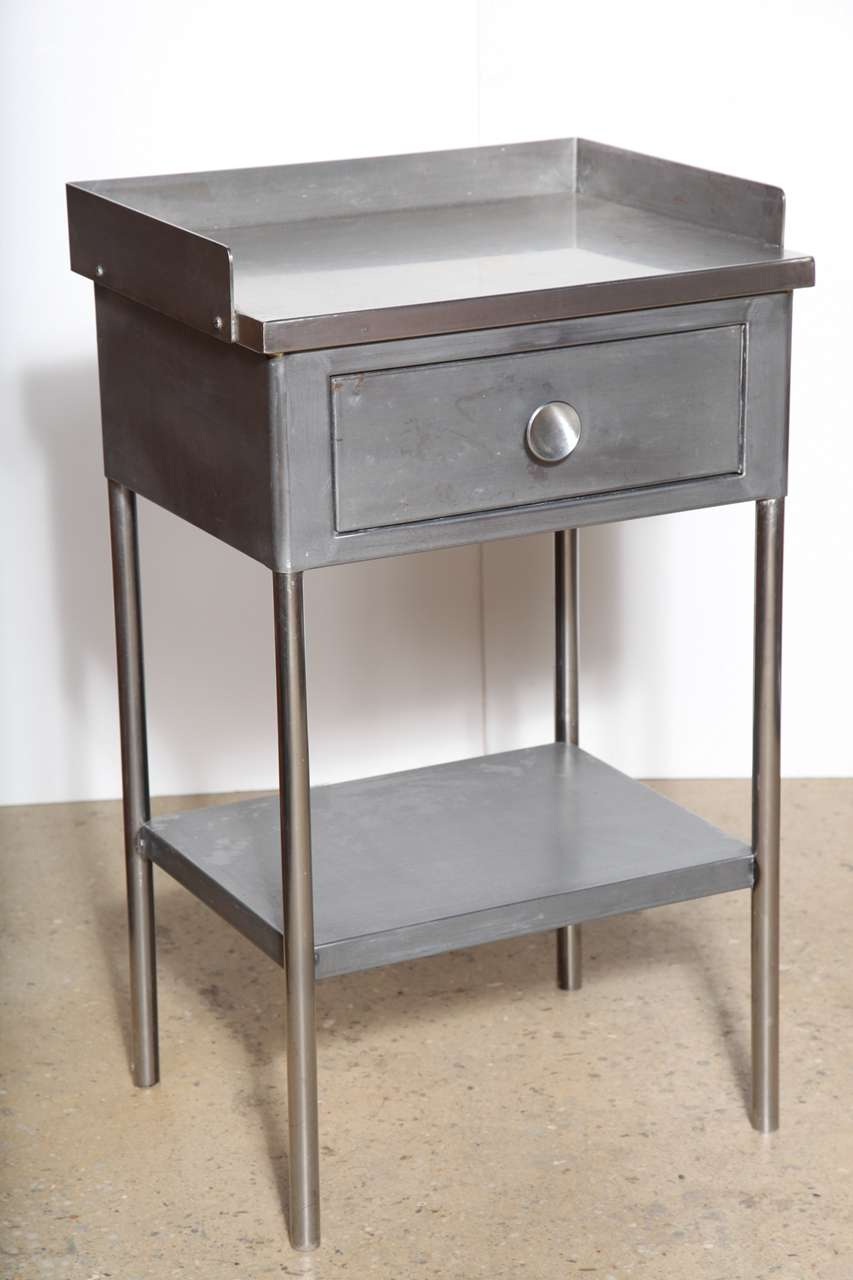 Pair of steel end tables at 1stdibs for Multi night stand
