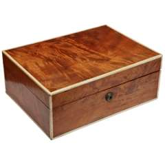 A 19th Century English Satinwood Humidor