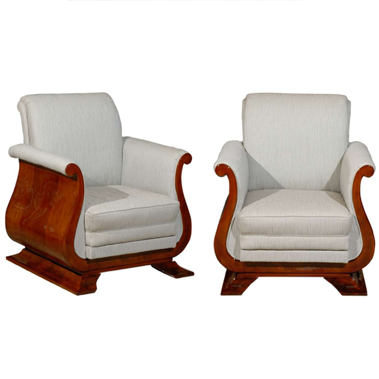 Pair of Art Deco French Tulip Chairs