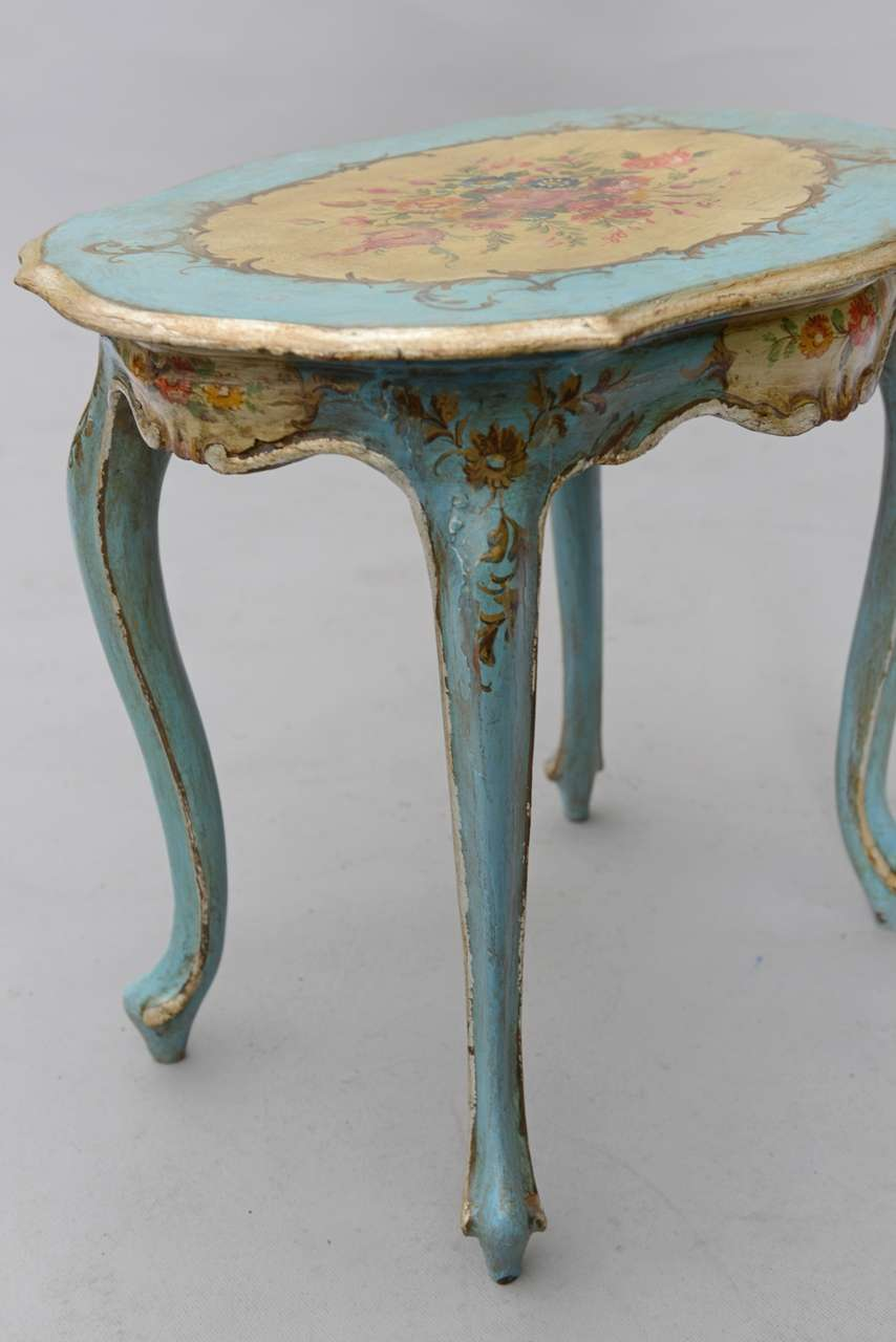 Hand painted venetian accent table image 7 for Accent furnitureable