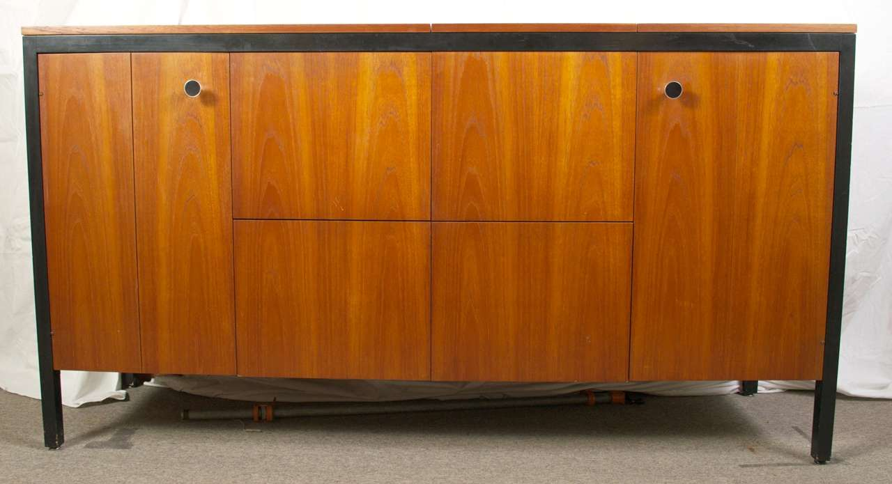 Rare George Nelson for Herman Miller Teak Stereo Sound Cabinet at ...