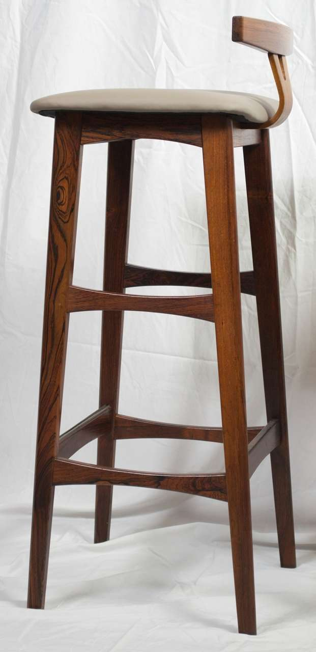 Pair Of Rosewood Danish Modern Barstools By Dyrlund At 1stdibs