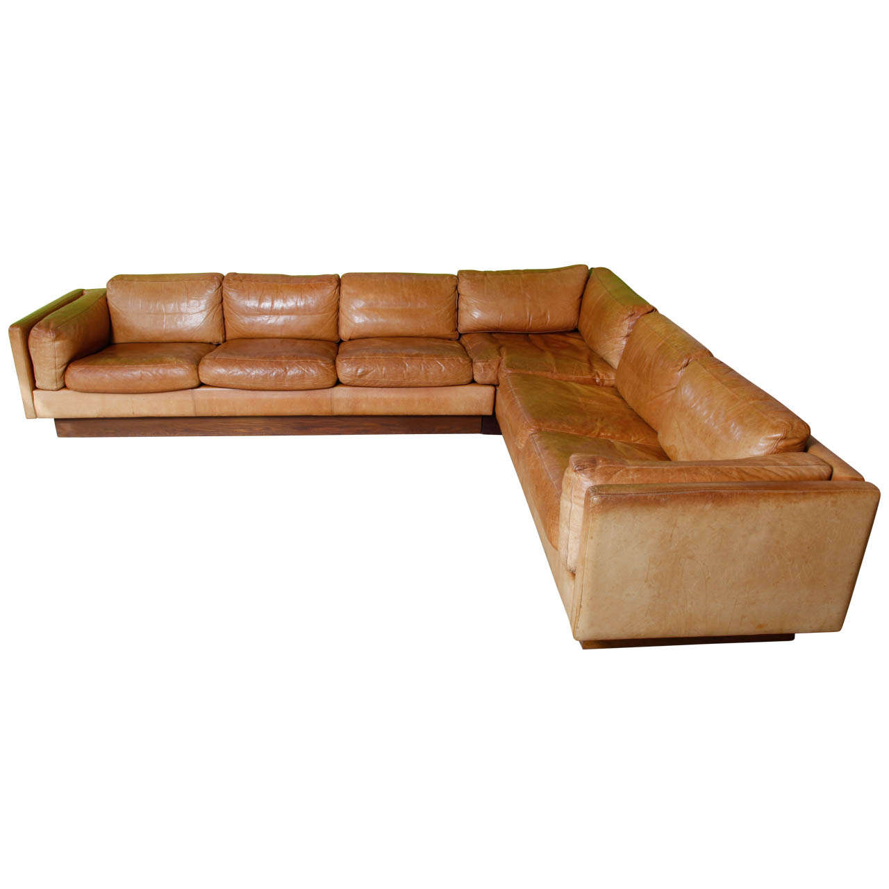 Shaped Leather And Wood Sofa 1970 At 1stdibs. Full resolution‎  portrait, nominally Width 1280 Height 1280 pixels, portrait with #3C180B.
