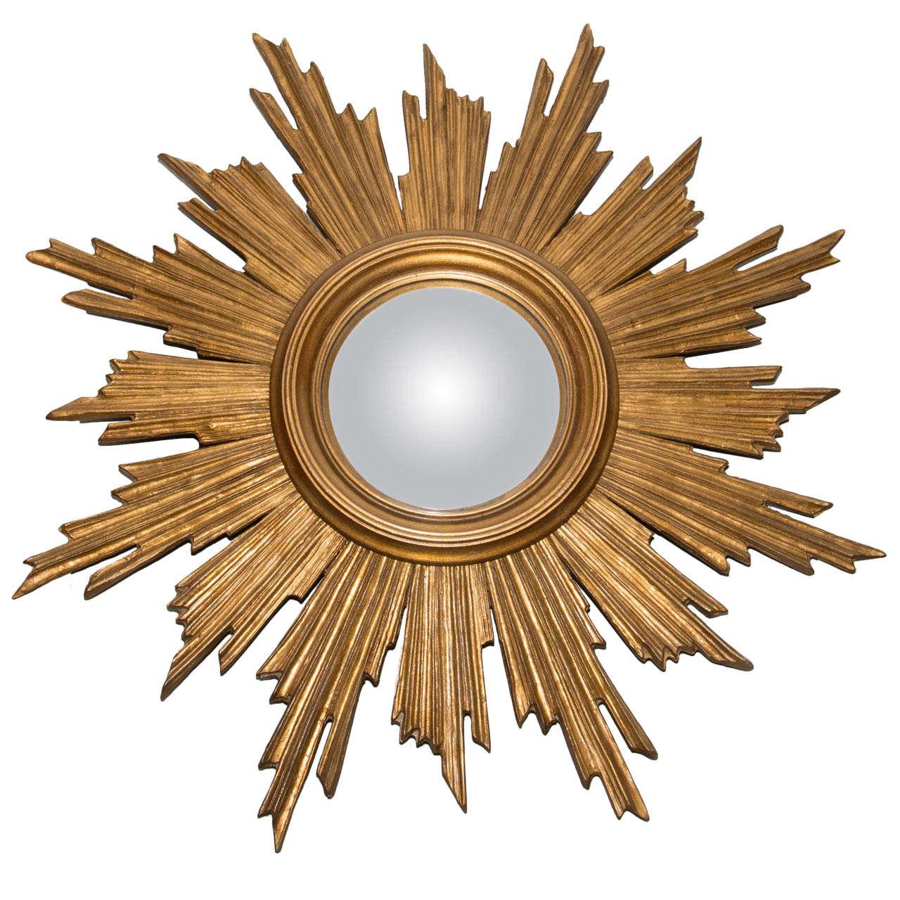 Giltwood sunburst mirror at 1stdibs for Sunburst mirror