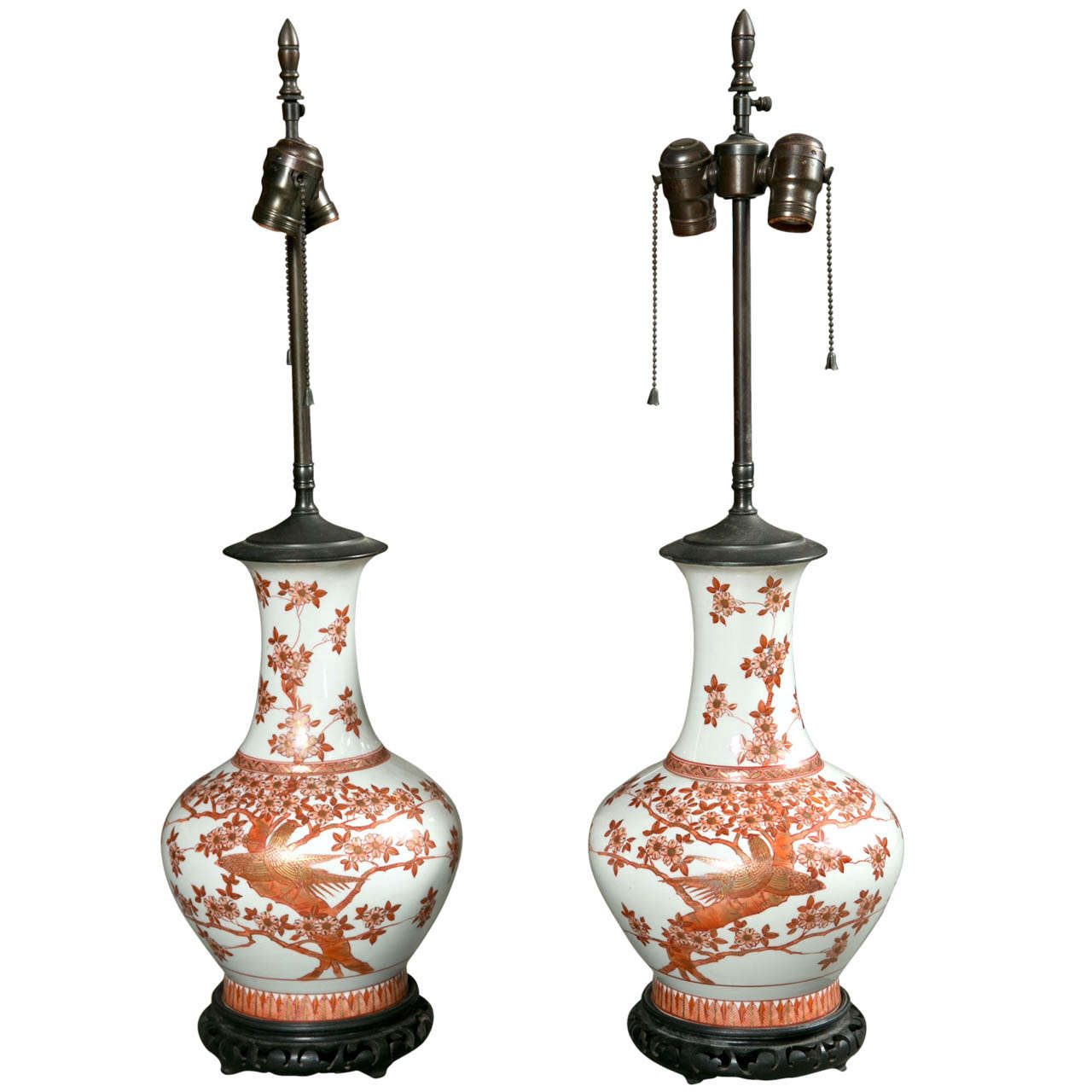 Pair of Chinese Vases as Lamps