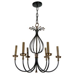 Iron and Brass French Chandelier