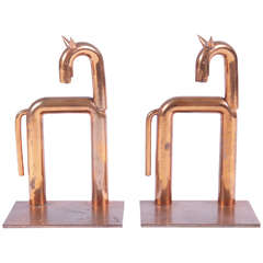 Iconic pair original Walter von Nessen Horse bookends for Chase