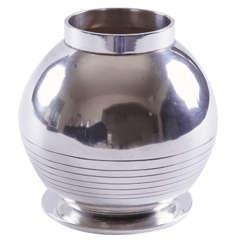 Sigvard Bernadotte for Jorgen Jensen Silver Plate Machine Age Art Deco Vase