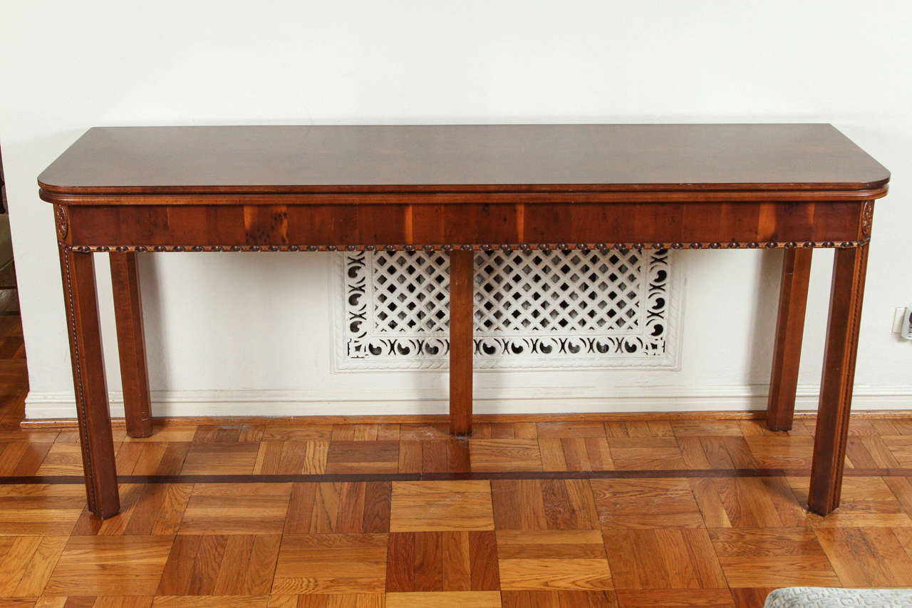 Hickory Chair Foyer Table : Reproduction piece from hickory chair in yew wood with