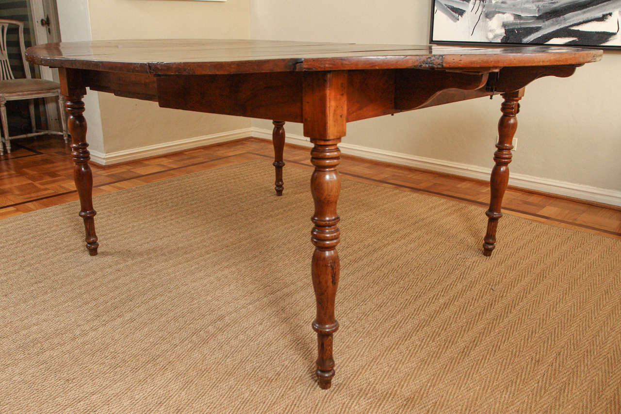 19th Century Rare English Oval Rectory Dining Table For Sale
